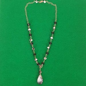 925 Silver Necklace Moss Agate